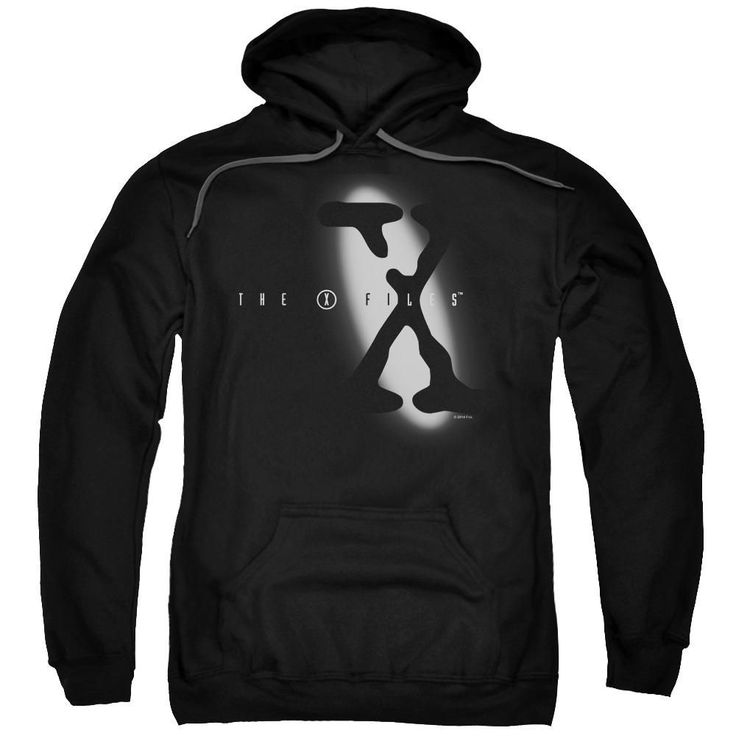 X Files - Spotlight Logo Adult Pull Over Hoodie