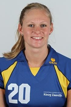 Dit is mijn nicht Rosemarie Roozenbeek ze doet korfbal en ze speelt bij de landskampioen KZ