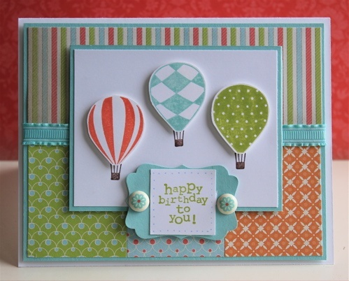 Stampin Up!Cards Ideas, Birthday Cards, Air Sets, Stamps Sets, Cards Papercraft, Hot Air Balloons, Black Cat, Suitcas, Stampin Up Cards