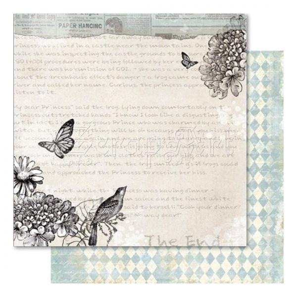 scrapbooková čtvrtka - Flutterby