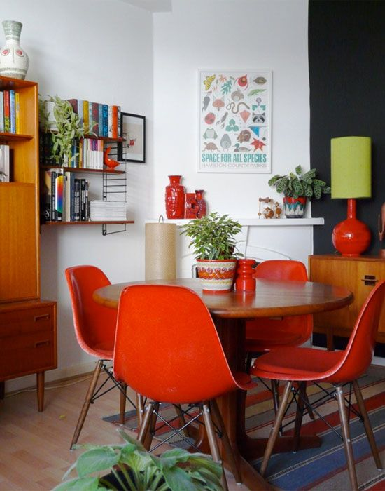 red diner chairs   Get the Look: The Small Red Dining Chair