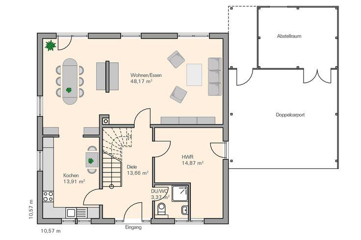 34 besten k che grundriss bilder auf pinterest haus for Beste grundrisse einfamilienhaus