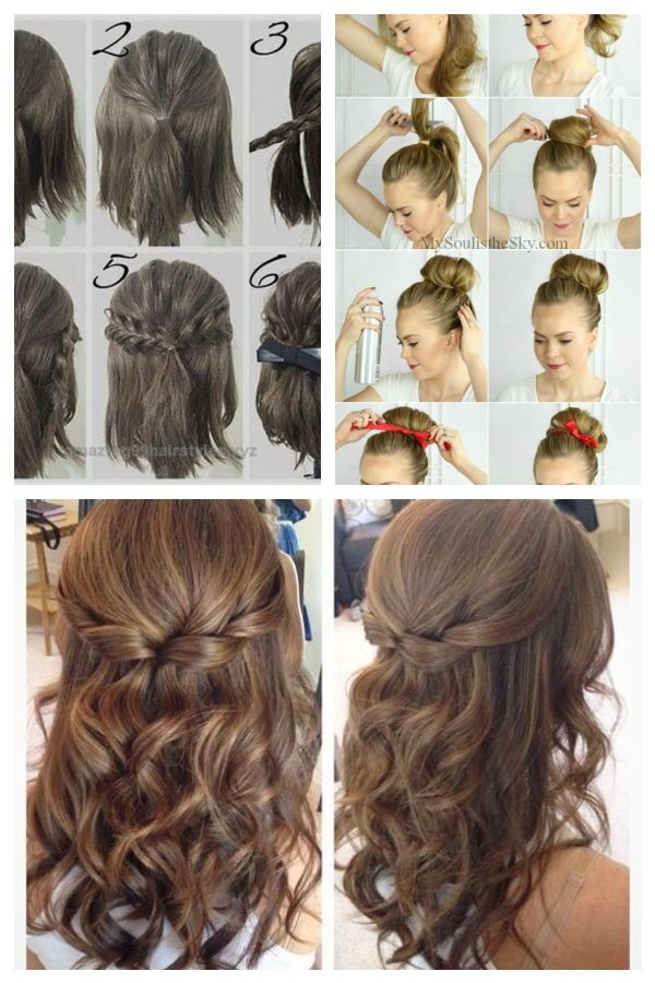 Hubsche Einfache Abschlussball Frisur Tutorials Fur Madchen Mit Kurzen Haare Frisurenfrdenabschlussball Promhairstylest Hair Styles Long Hair Styles Beauty