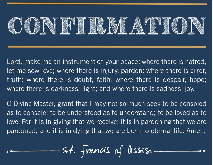 Confirmation - St. Francis of Assisi