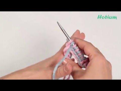 Örgü Öğreniyorum -İki Ayrı Renkli İplik ile İlmek Atma Tekniği - 2 - YouTube