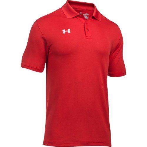 Under Armour Men's UA Team Armour Golf Polo Shirt 1287622 (Red, 2XL)