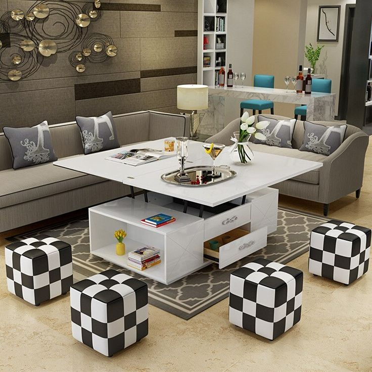 electric multifunction foldable Coffee Table Living Room