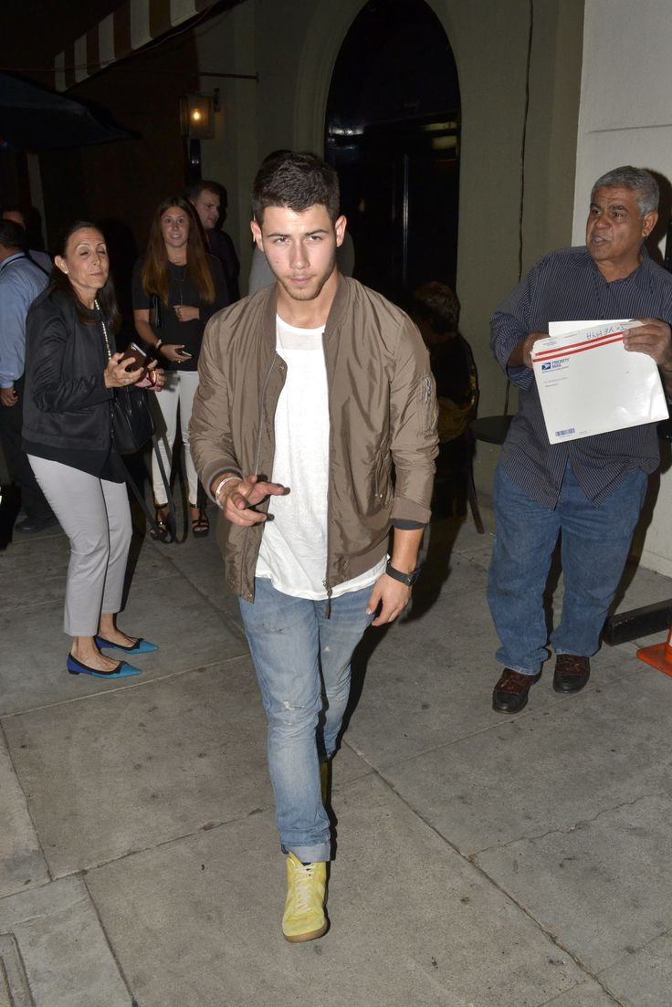 Pictures of Nick Jonas Wearing Bomber Jackets | Details