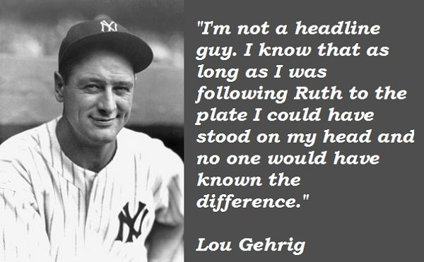 "lou gehrig speech analysis Lou gehrig, july 4, 1939, yankee stadium ""fans, for the past two weeks you have been reading about the bad break i got yet today i consider myself the luckiest man on the face of this earth."