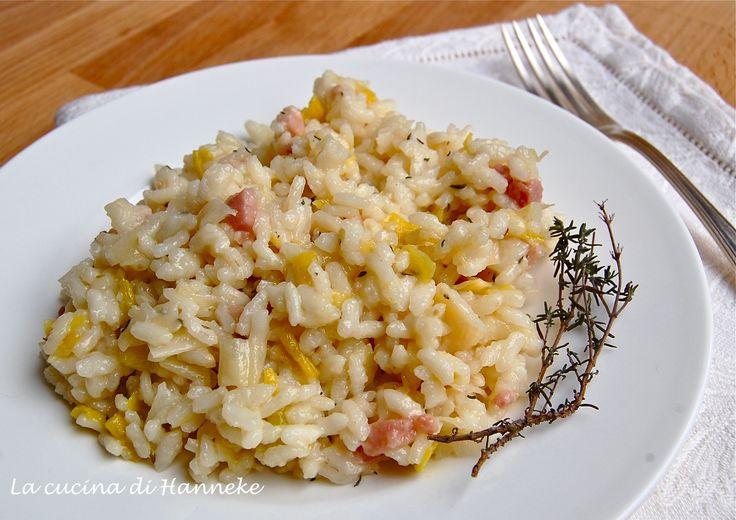 Oggi si mangia il risotto ai porri e pancetta! I porri sono una verdura molto salutare, ricca di vitamine e sali minerali e con tante proprietà curative.