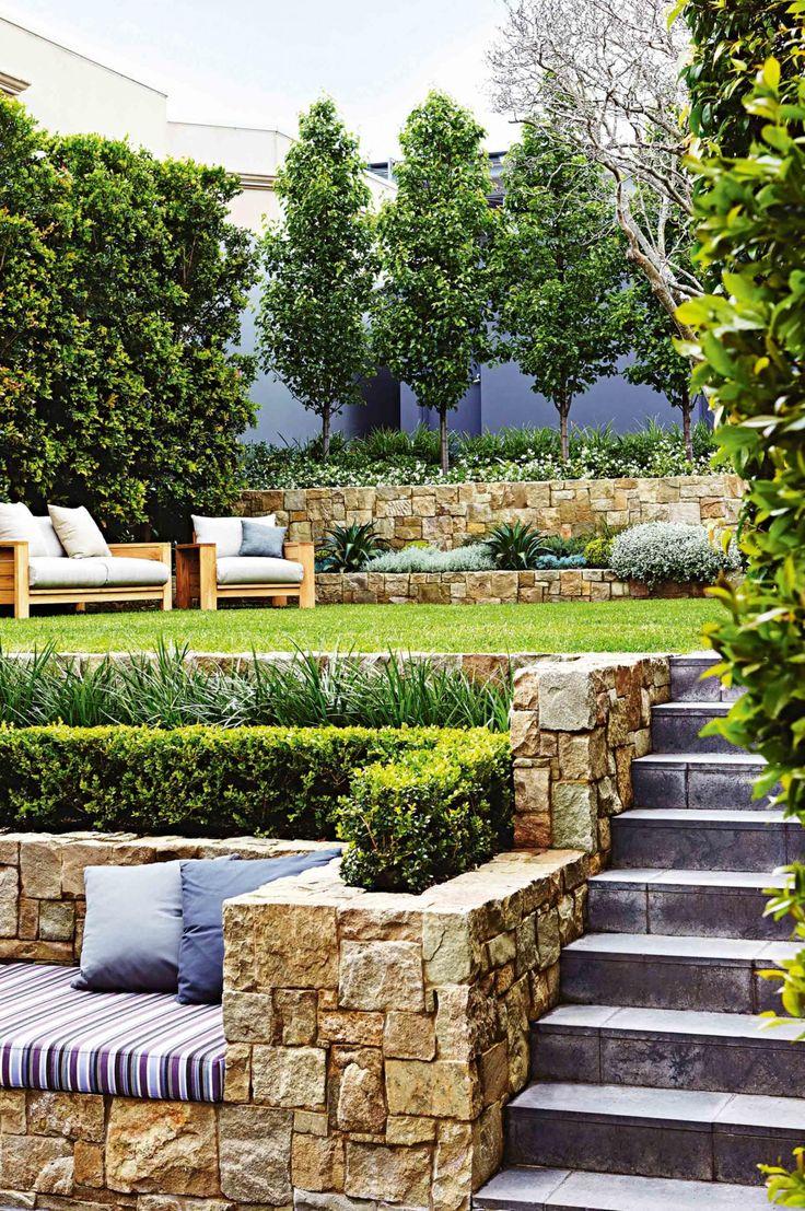 The 25+ best Sloped garden ideas on Pinterest | Sloping ... on Sloped Backyard Design id=15101