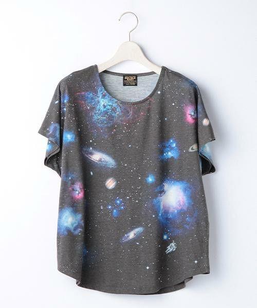 DOUBLE  NAME(ダブルネーム)の宇宙柄ゆるTシャツ(Tシャツ/カットソー)|A