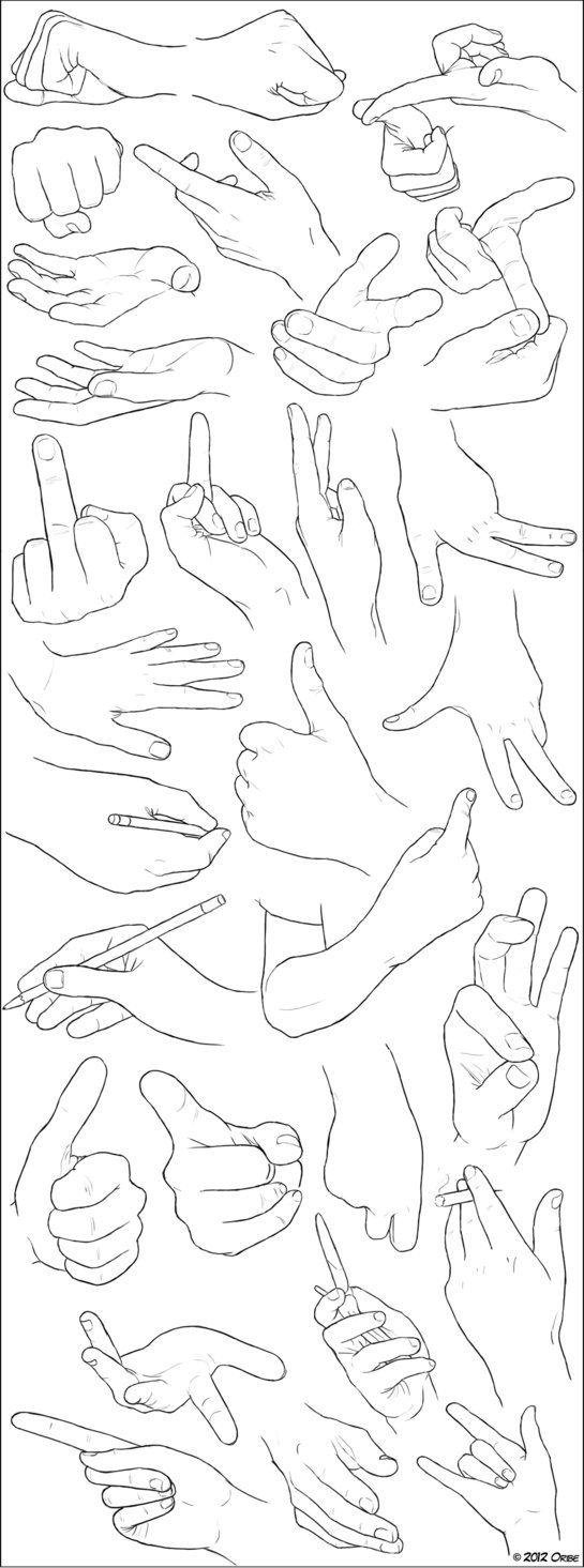 Hand Examples by ~DerSketchie on deviantART Tutorials by DerSketchie on deviantART Resources for Art School Students and Mixed Media Artists on How to Draw Hands for CAPI ::: Create art Portfolio Ideas at milliande.com