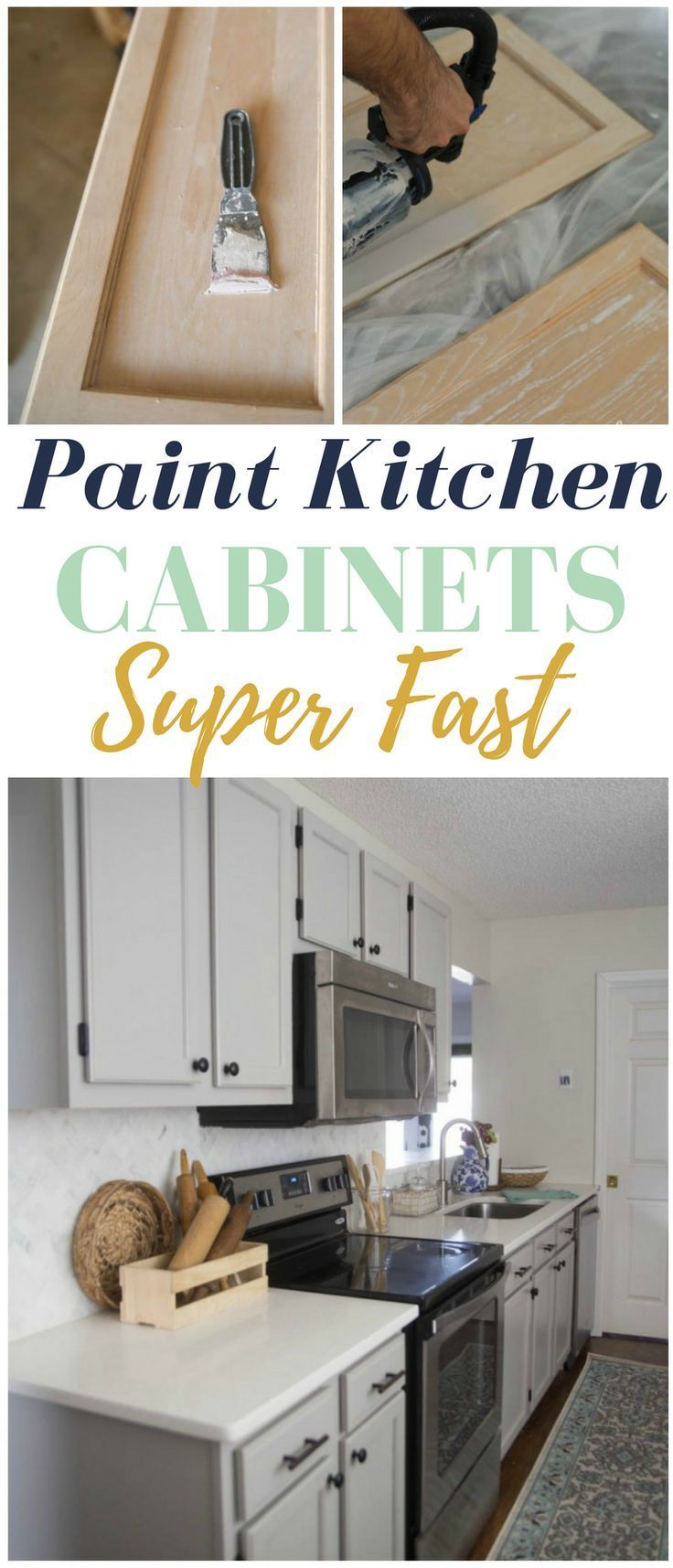 Mueble de cocina topper ideas - How To Paint Kitchen Cabinets Super Fast Some Serious Time Saving Tricks Here