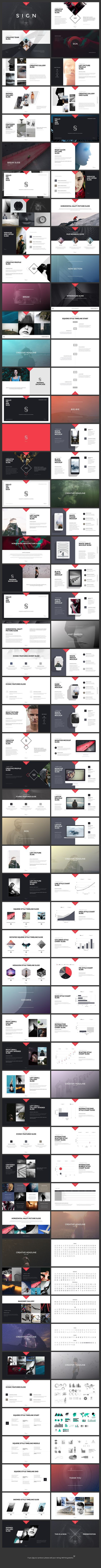 SIGN template contains more than 100+ unique slides. Original design & powerful features.