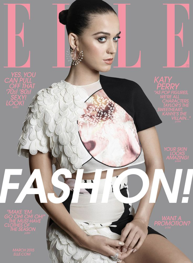 Elle March 2015 | Katy Perry by Michael Thompson