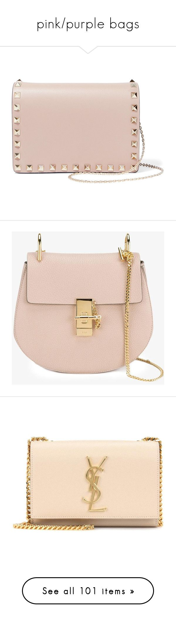"""pink/purple bags"" by mrstomlinson974 on Polyvore featuring bags, handbags, shoulder bags, blush, leather purse, valentino purses, pink leather purse, pink leather handbags, leather shoulder handbags and pink handbags"