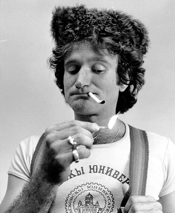 PHOTOS: Robin Williams through the years. A photo of Williams doing his comedy routine from 1977. (Photo/AP)