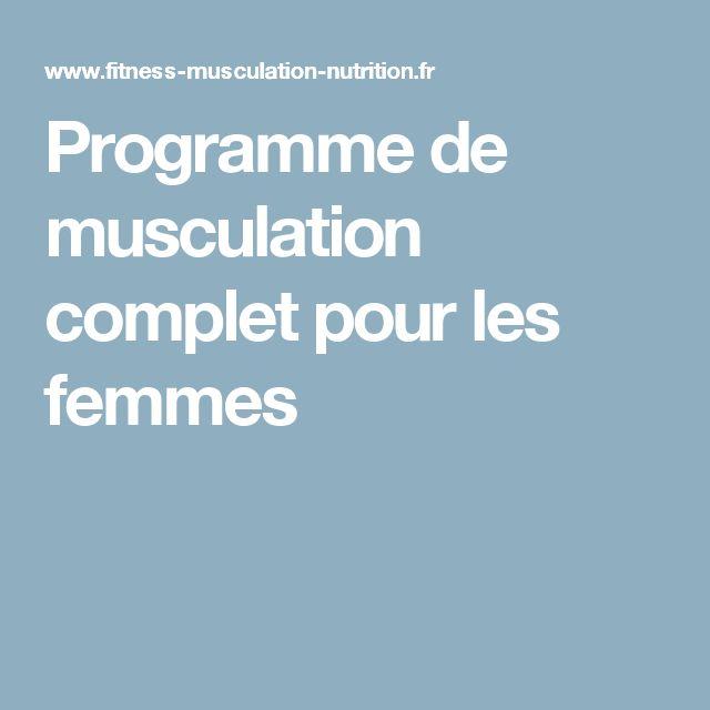 programme de musculation complet pdf