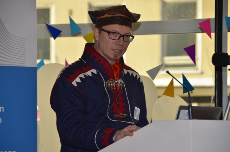 City_Sámit ry:n puheenjohtaja  Pentti Pieski valotti muun muassa pääkaupunkiseudulla asuvien saamelaisten näkökulmaa.
