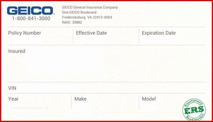 Fake Insurance Card Template Fake Car Insurance Card Template
