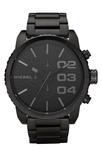 DIESEL® 'Double Down' Chronograph Bracelet Watch, 51mm available at #Nordstrom