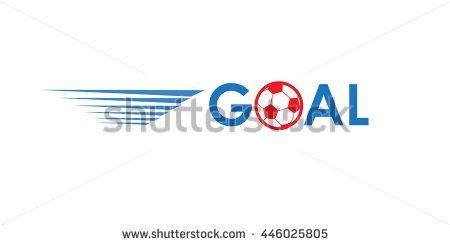 EURO 2016 Goal banner. European Championship Soccer logo with text Goal on white background. Logo Image illustration of Sport football. Goal winner, award icon, UEFA 2016 soccer player banner,  - stock photo