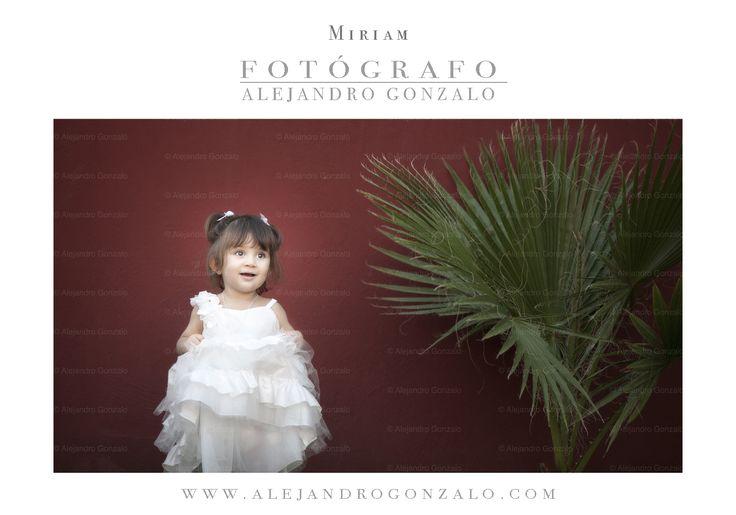 Retrato a Miriam, de 2 años, realizado en una de mis últimos reportajes de #boda.