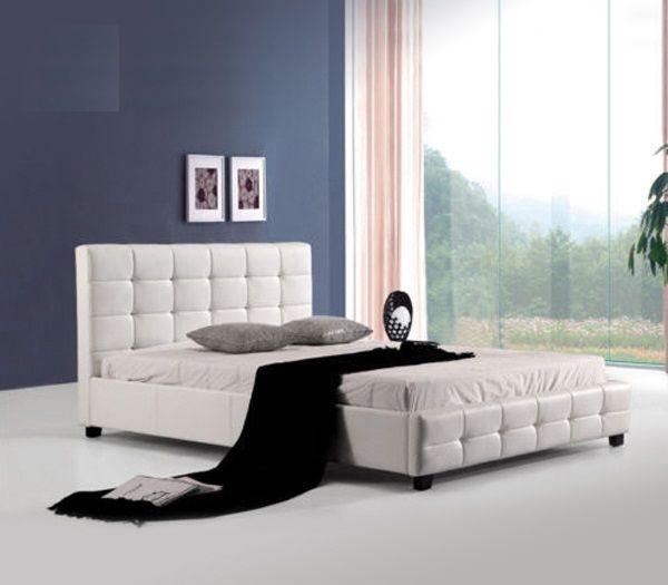 Κρεβάτια : FIDEL Κρεβάτι ΔΙΠΛΟ PU Άσπρο Ε8053,1