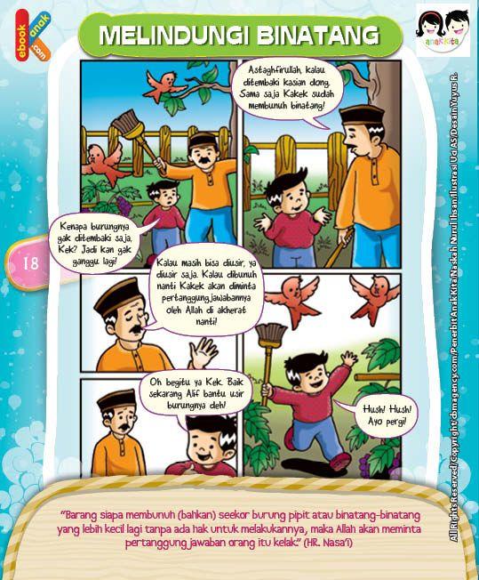 Komik Hadits Larangan Membunuh Binatang Tanpa Hak   Ebook Anak