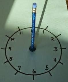 Actividades para Educación Infantil: Experimento: reloj de sol