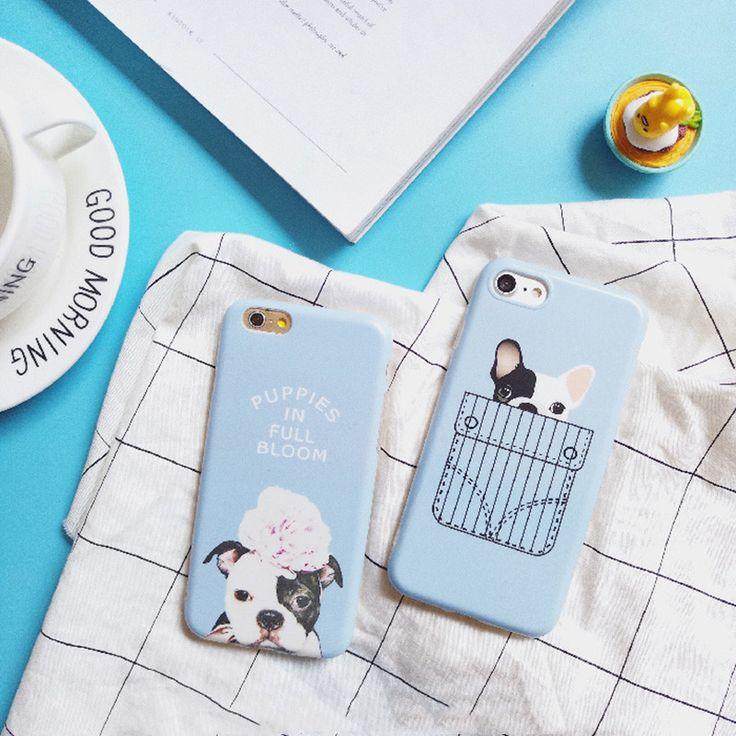 Funny Bulldog Case For iPhone 7 7plus 7+ i7 6 6s plus