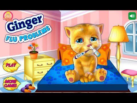 Talking Ginger Flu Problems - My Talking Tom Games