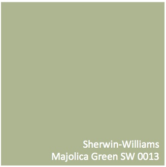 "Again, this computer doesn't capture it, but this is a color I had in my old office. Never did a person walk in without saying, ""I love this green!"" My daughter nailed it with, ""I always feel happy in this room.""  It is now our entryway color.   Sherwin-Williams Majolica Green SW 0013 #RusticRefined"