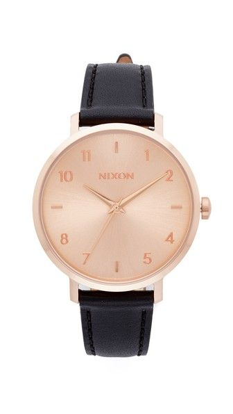 NIXON The Arrow Leather Watch. #nixon #watch