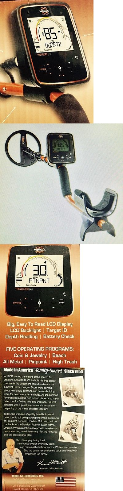 Metal Detectors: Whites Treasurepro Metal Detector, Waterproof 10 Dd Coil, Backlight, 8 Tones! BUY IT NOW ONLY: $369.99