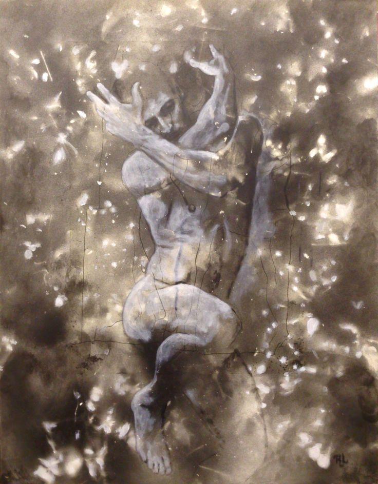 #His World#43x56#alkyd,acrylic#paper#dance#rithva.dk