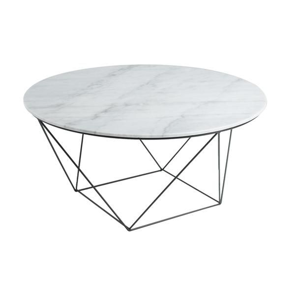 Viktor Marble Coffee Table White Round Coffee Table Round