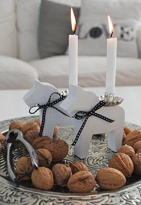 Kerzenschein Zuhause, kalt draussen