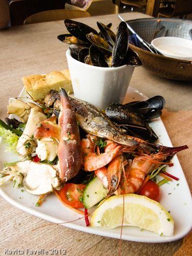 Seafood Platter @ Sam's On The Beach, Polkerris, near Fowey, Cornwall
