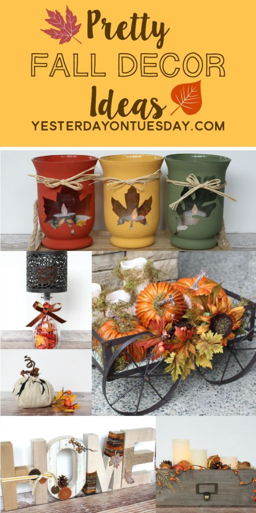 Pretty fall decor ideas to decorate your home for autumn for Thanksgiving home decorations pinterest
