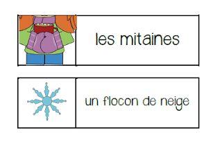 Primary French Immersion Resources: Les jeux de mots d'hiver