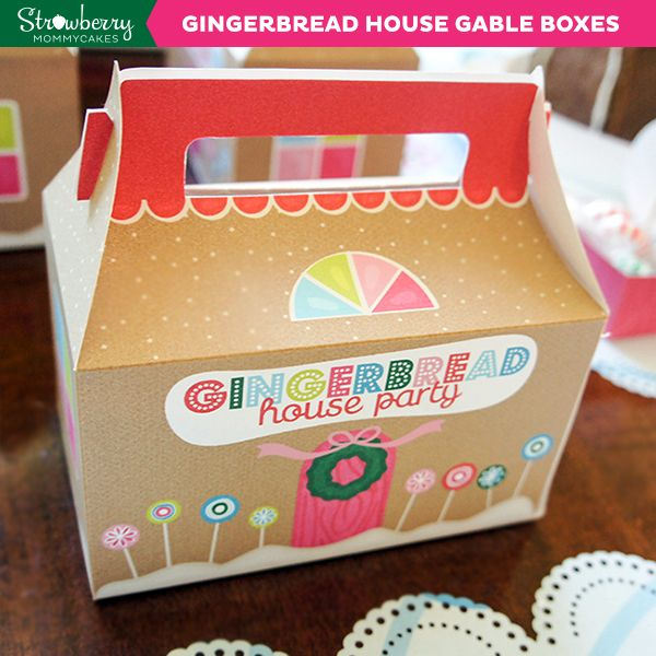 Diy gingerbread house gable boxes perfect for party