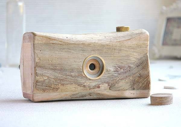 The Handmade Wooden Pinhole Camera Made from Sun-dried Driftwood
