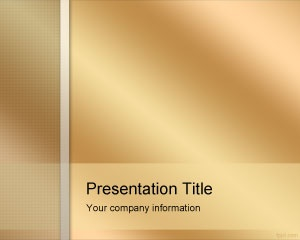 Free Golden PowerPoint Template