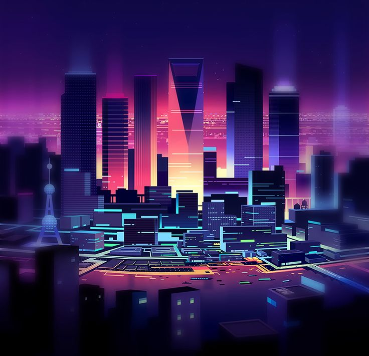 • Illustration art graffiti Cool stunning design night city picture pic artwork architecture nice colorful new york image building digital art digital city life map cities architectual jedavu •