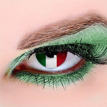 Flagge Italien - Kontaktlinsen für Fußball-Fans #WorldCup #football #contacts…
