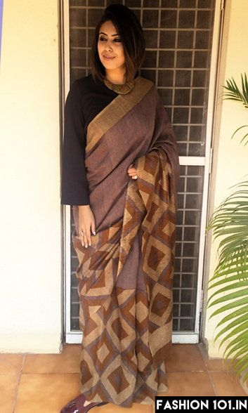 Who Says Saris Can Only Be Worn With Sari Blouses.