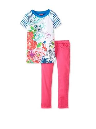 61% OFF Me Too Kid's Tee & Legging Set (Blue Stripe)