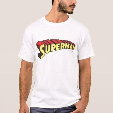 Superman | Yellow Red Letters Logo T-Shirt - click to get yours right now!